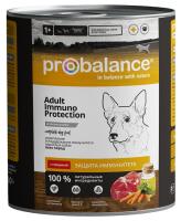 ProBalance Immuno Консервы для собак, Говядина 850г
