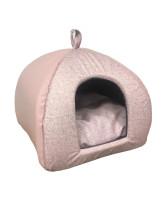 CLP Домик для животных Яранга Экокожа Пудрово-розовый