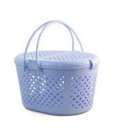 TRIOL Переноска пластиковая овальная, голубая, М 44*35*26см