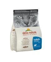 Almo Nature Holistic Корм для кастрированных кошек с Лососем и рисом