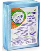 Петмил Пеленки впитывающие одноразовые для животных 60*60см