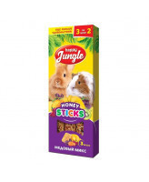 Happy Jungle Палочки для кроликов, шиншилл и морских свинок 3 вкуса Медвый микс 3шт