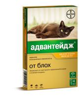 Адвантейдж капли от блох для кошек и котят до 4кг