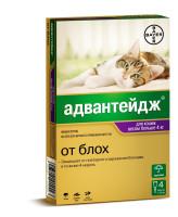 Адвантейдж капли от блох для кошек и котят свыше 4кг