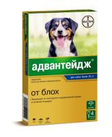 Адвантейдж капли для собак весом более 25кг от блох 4 пипетки