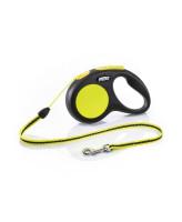 FLEXI New Neon S 5м до 12кг тросовый поводок-рулетка для собак
