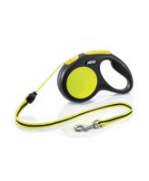 FLEXI New Neon М 5м до 20кг тросовый поводок-рулетка для собак