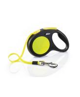 FLEXI New Neon М 5м до 25кг ременной поводок-рулетка для собак