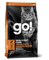 GO! SKIN + COAT Беззерновой корм для котят и кошек Лосось