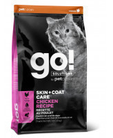 GO! SKIN + COAT Корм для котят и кошек с Цельной Курицей, фруктами и овощами