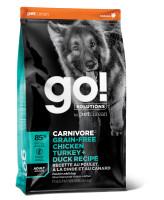 GO! CARNIVORE Корм беззерновой для взрослых собак 4 вида мяса: Индейка, Курица, Лосось, Утка