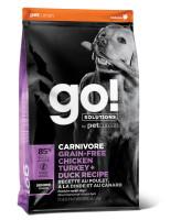 GO! CARNIVORE Корм беззерновой для пожилых собак 4 вида мяса: Индейка, Курица, Лосось, Утка