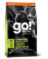 GO! CARNIVORE Корм беззерновой для щенков 4 вида мяса: Индейка, Курица, Лосось, Утка