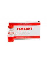 Гамавит иммуностимулятор при отравлениях, истощении, инфекциях и инвазиях 6мл 1шт (в уп. 5шт)