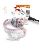 Игрушка для кошек Дразнилка на стеке с музыкальным чипом 51см GiGwi