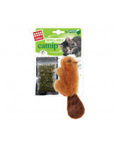 Игрушка для кошек Бобрёнок с кошачьей мятой (+3 пакетика мяты)  GiGwi