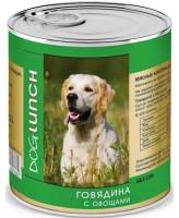 Дог Ланч консервы для собак  Говядина с овощами 750г