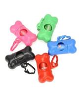 Антицарапки Контейнер для уборочных пакетов за животными Косточка с 15 пакетами, разные цвета