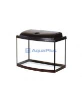 AquaPlus Аквариум STD Ф50 50х30х41,5см фигурный, 46 л., венге, светодиодный модуль