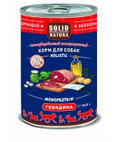 Solid Natura Holistic консервы для собак Говядина