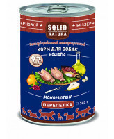 Solid Natura Holistic консервы для собак Перепёлка