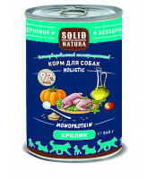 Solid Natura Holistic консервы для собак Кролик