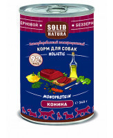 Solid Natura Holistic консервы для собак Конина