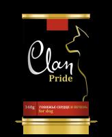 CLAN PRIDE консервы для собак Говяжье сердце и печень 340г