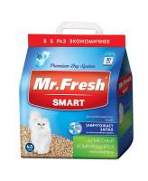 Mr.Fresh SMART наполнитель древесный комкующийся для длинношерстных кошек