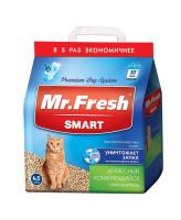 Mr.Fresh SMART наполнитель древесный комкующийся для короткошерстных кошек