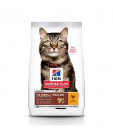 HILL'S Science Plan Hairball Indoor 7+ корм для кошек старше 7лет вывод шерсти из желудка 1,5кг
