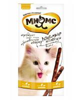 Мнямс Лакомые палочки для кошек с цыпленком и печенью 3шт