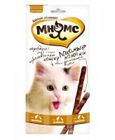Мнямс Лакомые палочки для кошек с цыпленком и уткой 3шт