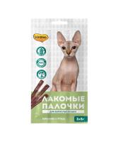 Мнямс Лакомые палочки для кошек с уткой и кроликом 3шт