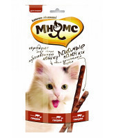 Мнямс Лакомые палочки для кошек с говядиной и печенью 3шт