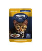 Gina CANDYCAT консервы для кошек с Курицей в желе 85г