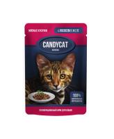Gina CANDYCAT консервы для кошек с Лососем в желе 85г
