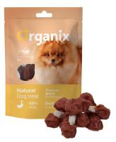 """Organix Лакомство для собак малых пород  """"Утиные гантельки"""" (100% мясо) 50г"""