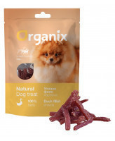 """Organix Лакомство для собак малых пород  """"Нарезка утиного филе"""" (100% мясо) 50г"""