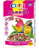 Cliffi Корм для крупных попугаев с ягодами фрутти и орехами Parrot 500г