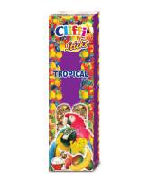 Cliffi Палочки с фруктами и медом для крупных попугаев Sticks Tropical 150г