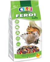 Cliffi Корм для хомяков, мышей, белок и песчанок с фруктами, грецкими орехами и морковью Ferdi 700г
