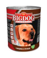 Зоогурман Big Dog консервы для собак 850г Говядина с гречкой
