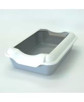 Туалет для кошек Homecat с бортиком 37х27х11,5см, серый