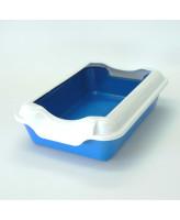 Туалет для кошек Homecat с бортиком 37х27х11,5см, синий