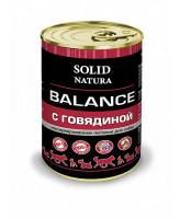 Solid Natura Balance консервы для собак Говядина 340г