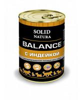 Solid Natura Balance консервы для собак Индейка 340г