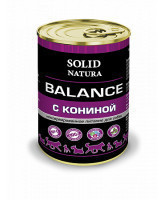 Solid Natura Balance консервы для собак Конина 340г