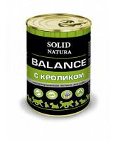 Solid Natura Balance консервы для собак Кролик 340г