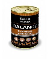 Solid Natura Balance консервы для собак Сердце и печень 340г